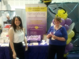 Susan and Lyn at the B2B expo
