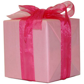 pink tissue and ribbon
